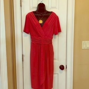 Beautiful Coral Evan Picone 14 Dress NWOT